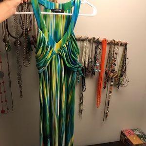 Multicolored Ellen Tracy flouncy dress